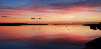 Заход солнца Aberdovey Уэльс Великобритания стоковое изображение
