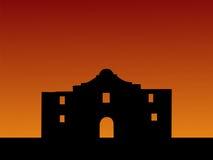 заход солнца alamo Стоковое фото RF