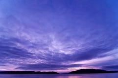 заход солнца argyll Стоковая Фотография RF