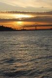 заход солнца astoria Стоковое Изображение RF