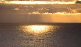 заход солнца Atlantic Ocean Стоковые Фотографии RF
