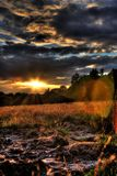 заход солнца backlight Стоковая Фотография RF