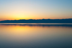 заход солнца baikal стоковая фотография rf