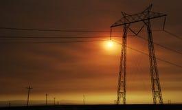 заход солнца bakersfield стоковое изображение rf