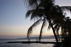 заход солнца bali Индонесии Стоковая Фотография RF