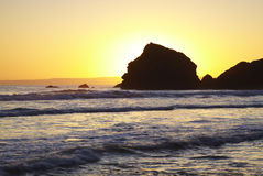 заход солнца ballyduane стоковые изображения