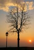 заход солнца bergamo Стоковое Изображение RF