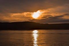 Заход солнца 2019 Bosphorus стоковые фотографии rf