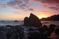 заход солнца california стоковая фотография rf