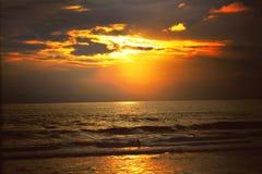 Заход солнца Canggu стоковая фотография rf