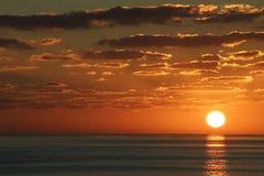 заход солнца carib Стоковые Фотографии RF