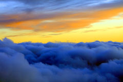 заход солнца caucasus Стоковое Изображение RF