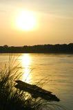 заход солнца chiang khan Стоковая Фотография