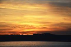 Заход солнца, cloudscape, предпосылка неба стоковая фотография rf