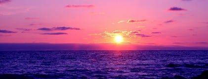 заход солнца cornwall Стоковая Фотография RF