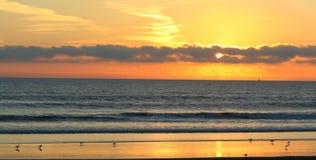 заход солнца coronado Стоковые Изображения RF