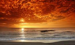 заход солнца cosica Стоковая Фотография RF