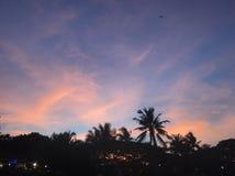 заход солнца cum небо стоковая фотография rf