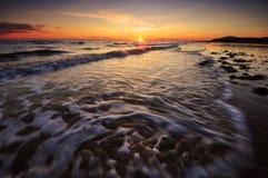 Заход солнца Cumbrian Стоковые Изображения RF