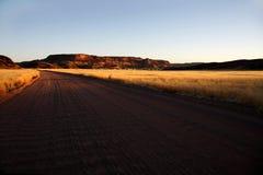 заход солнца damaraland Стоковые Изображения