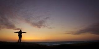 заход солнца danmark Стоковое Изображение
