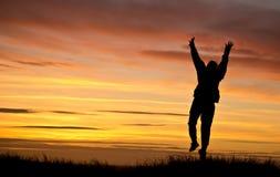 заход солнца danmark Стоковая Фотография