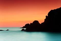 заход солнца de gata cabo стоковые изображения rf