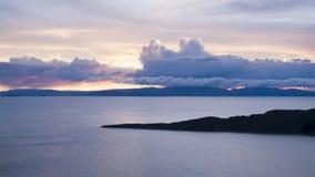заход солнца del isla sol стоковая фотография