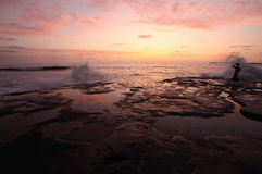 заход солнца diego san Стоковое Изображение RF