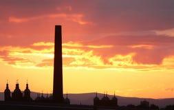 заход солнца edinburgh Шотландии стоковые изображения rf