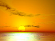 заход солнца el золотистый Стоковое Фото