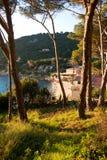 заход солнца elba Италии стоковое изображение