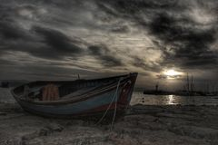 Заход солнца Eskihisar Стоковая Фотография