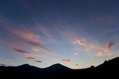 заход солнца esterel Стоковые Фотографии RF