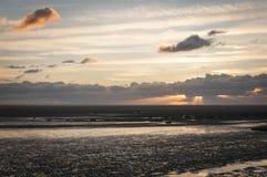 Заход солнца Fairhaven стоковые изображения rf