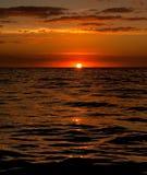заход солнца fijian Стоковые Изображения RF