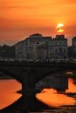 заход солнца florence Стоковое фото RF