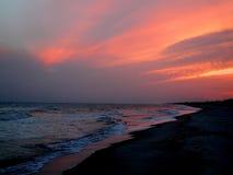 заход солнца florida Стоковая Фотография RF