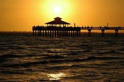 заход солнца Fort Myers Стоковая Фотография