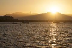 заход солнца francisco san Стоковая Фотография RF