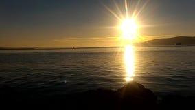 Заход солнца Gallipoli сток-видео