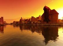 заход солнца gdansk Стоковое Изображение RF