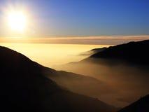 заход солнца glendora стоковое фото rf