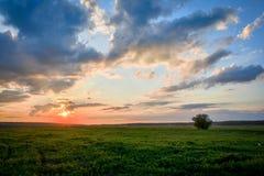 Заход солнца HDR стоковая фотография