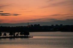 заход солнца helsinki стоковое фото rf