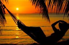 заход солнца hummock Стоковые Фото