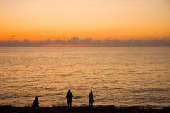 заход солнца ibiza Стоковые Фото