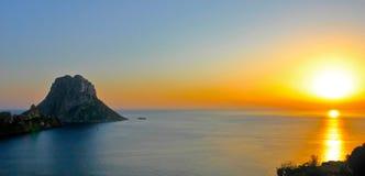 заход солнца ibiza Стоковое Изображение RF