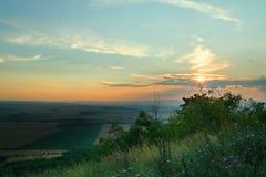 заход солнца ii Стоковая Фотография