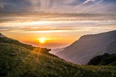 Заход солнца II Snowdonia стоковое изображение